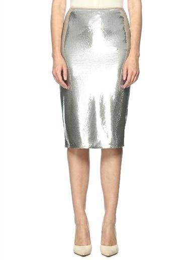 Diane Von Furstenberg Payetli Midi Etek Gümüş